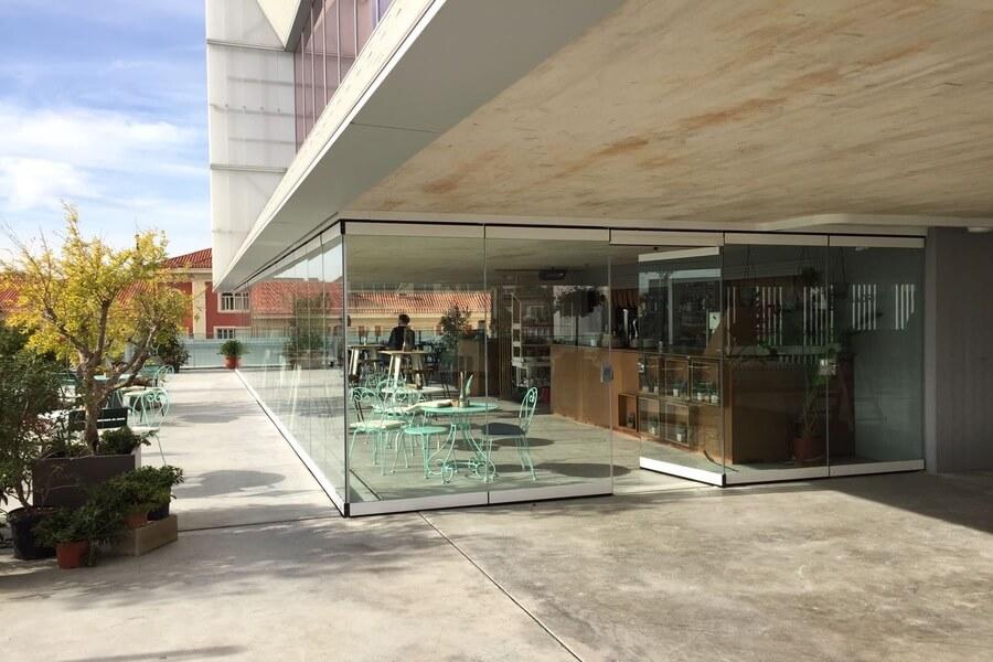 terrazas con cortinas de cristal cepi